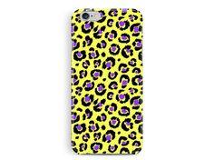 LEOPARD print iphone 5c case, leopard skin pattern case, girly iphone case, yellow iphone 5c case, animal print case, bling case, cute case
