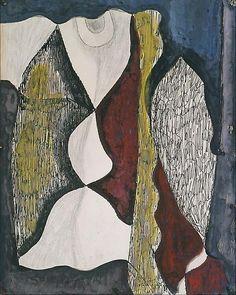 'Leaf Figure' (recto) by William Baziotes, 1946