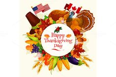 Thanksgiving Day Vector Banner Emblem by seamartini Happy Thanksgiving Day. Vector round sticker label with text Thanksgiving Day. Circle emblem with design of traditional celebratio Thanksgiving Day 2018, Happy Thanksgiving Images, Thanksgiving Messages, Thanksgiving Invitation, Thanksgiving Greetings, Thanksgiving Decorations, Thanksgiving Turkey, Holiday Icon, Celebration Day