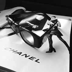 Vintage Chanel how it should be...in black & white and on top of more Chanel.
