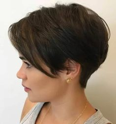 Image result for dark pixie cut