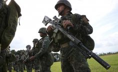 My Wife: Philippine marines stand at attention during their send-off ceremony ending their combat duty against pro-Islamic State militant groups in Marawi City October 21 Standing At Attention, Insurgent, My Wife, High Quality Images, Southeast Asia, Troops, Marines, Philippines, Military