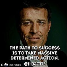 #inspiration @the67steps with @repostapp.  Take massive determined action #tonyrobbins #quote #motivation #the67steps by vbteach