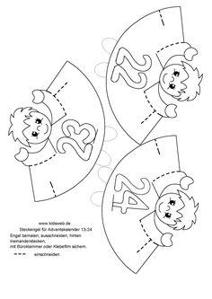 Advento kalendorius Christmas Ornament Template, Christmas Ornaments, Funny Numbers, Christmas Crafts For Kids, Math Games, Hand Embroidery, Activities For Kids, Preschool, Projects To Try