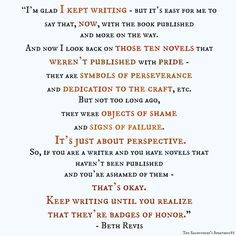 Beth Revis on writing, failure, perspective and persistence.