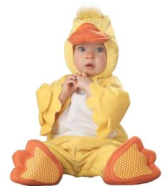 Lil Characters Infant Duck Costume, Yellow/Orange/White: Amazon.com: Clothing