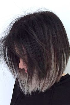 35 Short Ombre Hair Color Ideas for Brunettes That Are Trending for 2019 - Latest Hair Colors frisuren frauen frisuren männer hair hair styles hair women Ombre Hair Color, Cool Hair Color, Gray Ombre, Ash Ombre, Ombre Bob Hair, Short Hair Colour, Colored Short Hair, Hair Color Ideas For Brunettes Short, Dark Ombre Hair