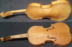fixie violin after varnish is removed.