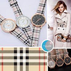 Le paradis xoClaire.blogspot.fr : Blog mode, lifestyle, beauté, bijoux, et autre: Montres motifs Burberry - Inspiration