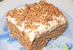 Picture of Recept - Pařížské řezy - v jednoduchosti je kouzlo Slovak Recipes, Russian Recipes, Chocolate Coconut Slice, Desserts Thermomix, Carrot Cake, Sweet Tooth, Bakery, Cheesecake, Food And Drink