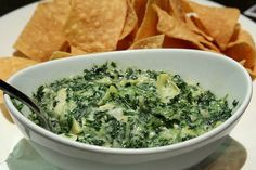 Hot Spinach Artichoke Dip Recipe - A lighter version than what is served in restaurants.