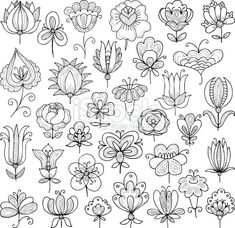 Embroidery Pattern from Doodle Inspirations via istock.com from Getty Images. jwt
