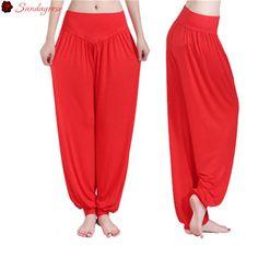 Sundayrose Womens Sports Clothes Yoga Pants Elastic Waist Fitness Sport Tights Pants Leggings Trousers For Women Plus Size S-XXL
