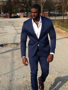 Men In Black, Black Suit Men, Navy Blue Suit, Gorgeous Black Men, Dark Men, Handsome Black Men, Beautiful Men, Black King, Dapper Gentleman