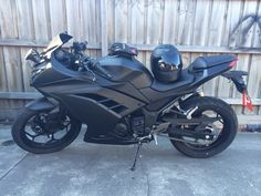 New bike all painted. Kawasaki Ninja 300 2014