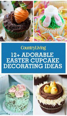 16 Cute Easter Cupcake Ideas - Decorating & Recipes for Easter Cupcakes Easter Snacks, Easter Treats, Easter Recipes, Spring Recipes, Easter Desserts, Easter Food, Cupcake Recipes, Dessert Recipes, Cupcake Ideas