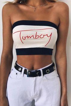 cd11eae66ef TOMBOY Letters Cool Crop Tube Top – Lupsona Instagram Baddie