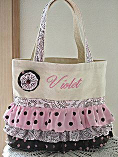 Trick or Treat Ballet Tote Purse  Child by Antiquebasketlady, $30.00
