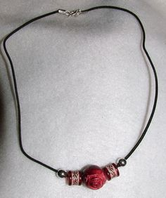 Red rose choker by jeannare on Etsy, $9.00