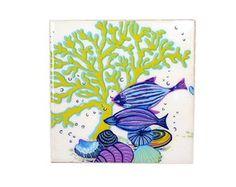 Quadrinho Azulejo Coral Verde
