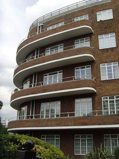 Barons Keep Barons Court 1930s: London art deco by mermaid99, via Flickr. This place is opposite my sister's place.