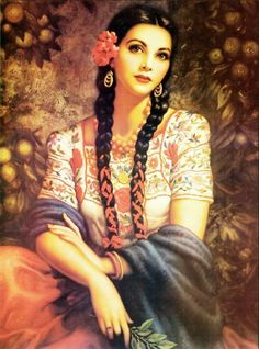 Vintage Mexican postcard art ~ gorgeous!