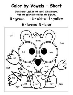 Holiday and Seasonal themed Color-by-Vowel Activity Bundle---4 sheets for each holiday/season listed.