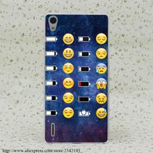 393R Emoji Face Space Funky Smiley Hard Transparent Case Cover for Huawei P6 P7 P8 P9 Lite Plus Honor 6 7 4C 4X G7(China (Mainland))