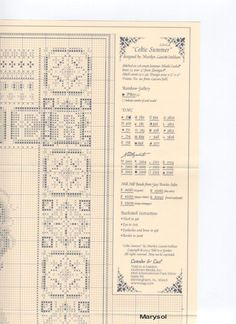 Celtic Summer 3 of 6 Russian Cross Stitch, Celtic Cross Stitch, Cross Stitch Angels, Free Cross Stitch Charts, Counted Cross Stitch Patterns, Cross Stitch Designs, Cross Stitch Embroidery, Hand Embroidery, Celtic Patterns