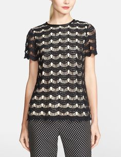 Absolutely smitten by this Kate Spade scallop lace top.