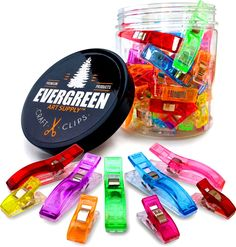 Amazon.com: WONDER CLIPS - Super 100-PACK! - 75+25 Bonus JUMBO Clips! - Vibrant Colors! All Purpose Craft Clips - Perfect as Sewing Clips, Quilting Clips & More! by Evergreen Art Supply -100% Moneyback Guarantee