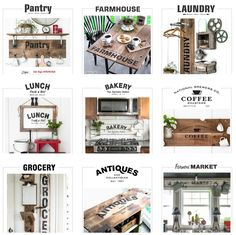 Funky Junk's Old Sign Stencils - buy them HERE