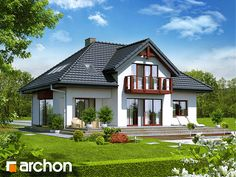 Projekt: Dom w kalateach 2 on Behance Cottage Style Homes, Modern House Design, Viera, Home Fashion, Gazebo, New Homes, Sweet Home, Exterior, Outdoor Structures