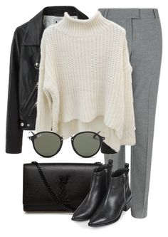 """""""Untitled #2200"""" by rosyfilm ❤ liked on Polyvore featuring Fenn Wright Manson, Acne Studios, Yves Saint Laurent, Topshop and Ray-Ban"""