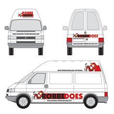 Ontwerp autobelettering voor Robbedoes BSO  | design studiopittig.nl