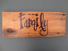 Family sign barn wood sign reclaimed wood by AudaciousApproach, $17.00