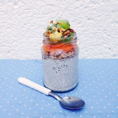 Vanilla and Coconut Chia Pudding – BronteCarlo. The best recipe using chia seeds! A healthy dessert of even a delicious breakfast!!