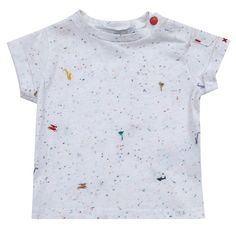 Tartine et Chocolat Embroidered Flecked T-Shirt White