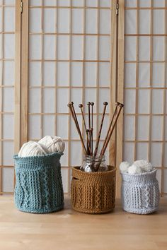 Crochet Cable Baskets - Knitting Patterns and Crochet Patterns from KnitPicks.com by Edited by Knit Picks Staff
