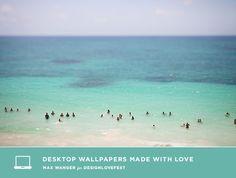 Summer beach Free computer desktop background. #positive #inspiring #motivating