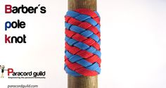Barber's pole knot tutorial.