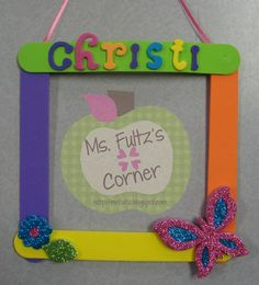 Mother's Day Foam Frame Craft Idea from Ms. Fultz's Corner