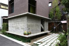 'isana' is a row house completed by niko design studio, which combines a 70 sqm. dwelling with multiple rental units of sqm each in musashino, tokyo. Modern Residential Architecture, Japanese Architecture, Architecture Details, Two Storey House, Thing 1, Cute Home Decor, House In The Woods, My Dream Home, Facade