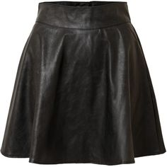 Designer Clothes, Shoes & Bags for Women Black Circle Skirts, Black Flare Skirt, Leather Skater Skirts, Black Skater Skirts, Taylor Swift Costume, Stylish Outfits, Fashion Outfits, Feminine Dress, Short Skirts