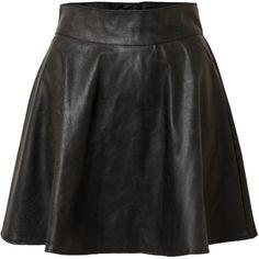 Vero Moda Eva Skater Skirt (34 CAD) ❤ liked on Polyvore featuring skirts, bottoms, black, faldas, skater skirts, circle skirts, vero moda and flared skirt