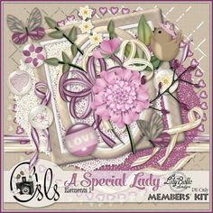The April Members' Challenge kit at OSLS - A Special Lady - was never released as planned because I was unable to continue as the challenge . Scrapbooking Freebies, Digital Scrapbooking, April Members, Challenge, Lady