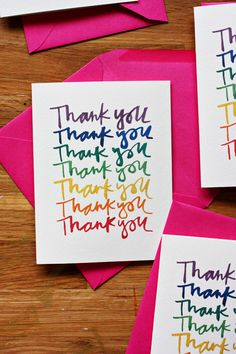 Cute thank you note printable. Perfect post rainbow birthday party.