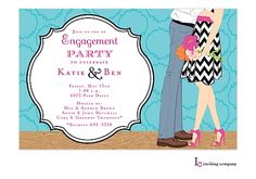 Sweet Love Engagement Party Invitations
