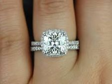 Shop from the world's largest selection and best deals for Cushion White Gold VS2 18k Diamond Engagement Rings. Shop with confidence on eBay!