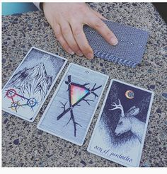 Real life tarot images of ethony instagram Son of Pentacles.